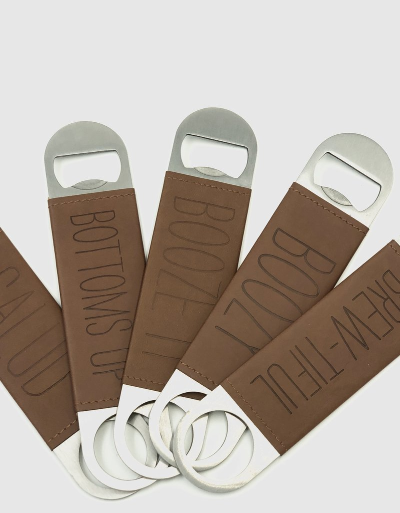 MUD PIE LEATHER BOTTLE OPENER