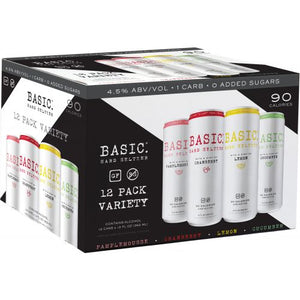Basic Hard Seltzer 12 Pack Variety