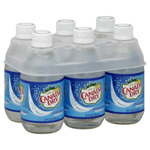 Canada Dry Club Soda 10Oz 6Pk