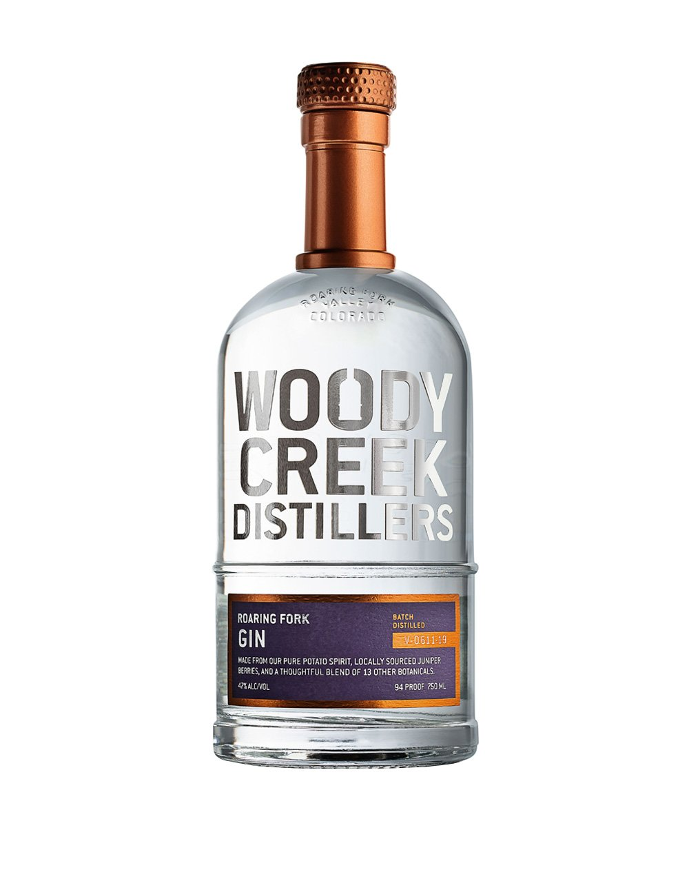 Woody Creek Gin 750Ml