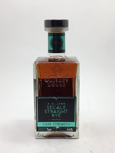 A.D. Laws Secale Cask Strength Rye Whiskey 750