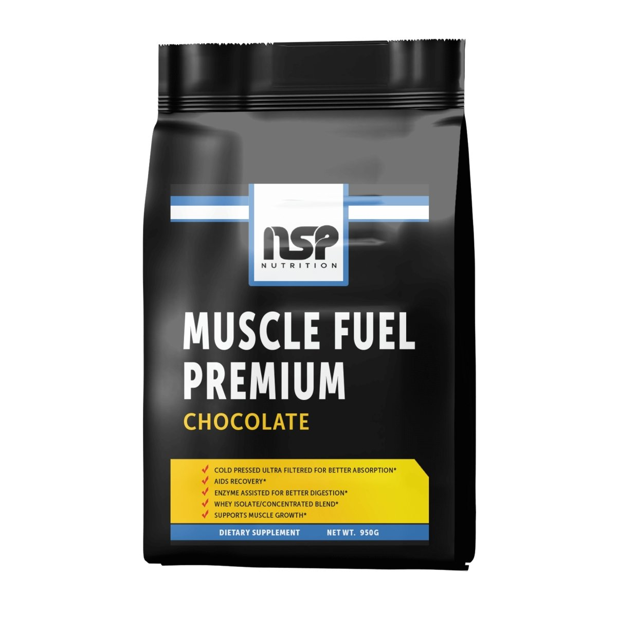 Muscle Fuel Premium - Chocolate - High Quality Whey Isolate - NSP Nutrition