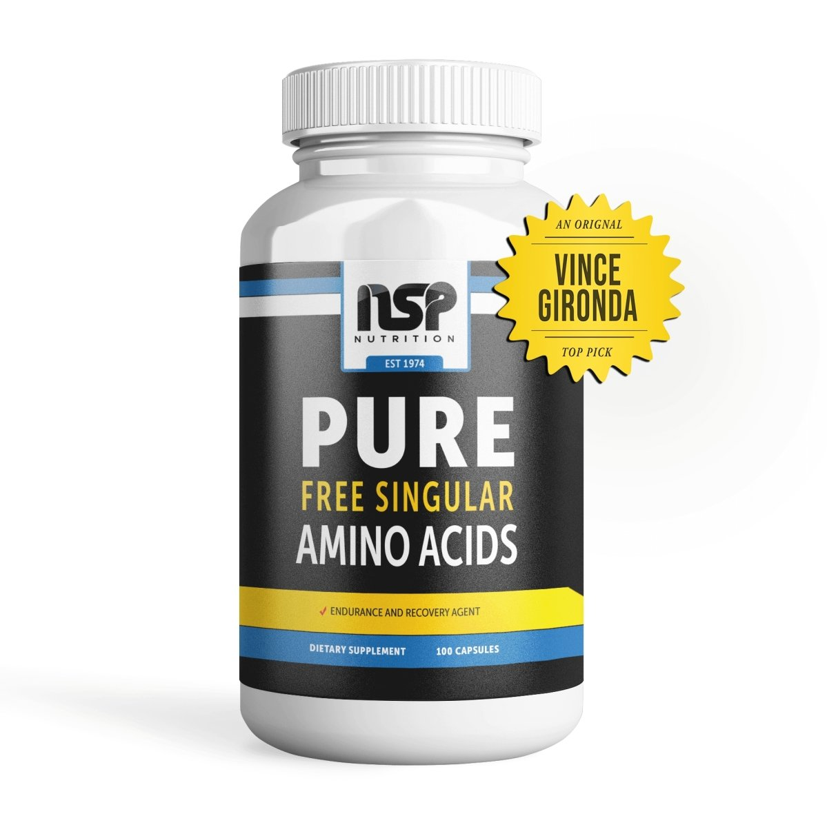 Ultra PURE Free Form Singular Amino Acids - NSP Nutrition