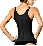 Waist Cincher Latex Vest BLACK