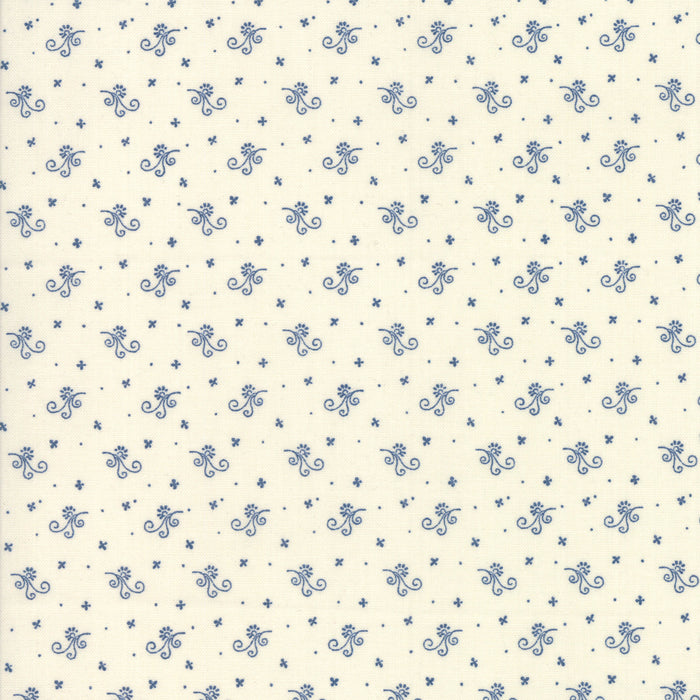 Indigo Gatherings (1294 11) by Primitive Gatherings from Moda - PRICE PER 1/2 YARD