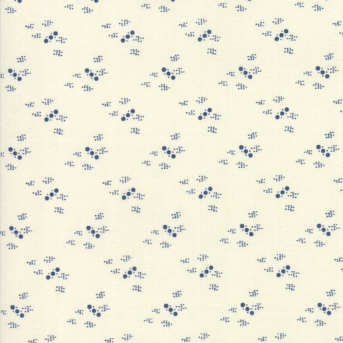 Indigo Gatherings (1299 11) by Primitive Gatherings from Moda - PRICE PER 1/2 YARD