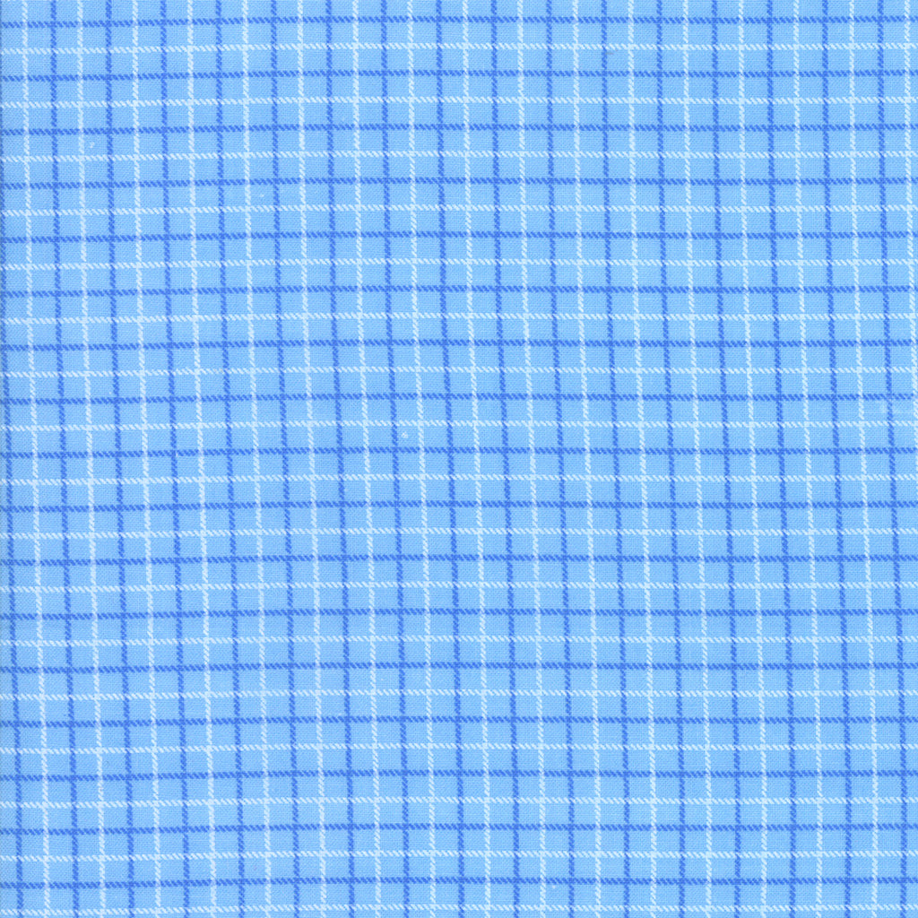 Back Porch Screen Door Plaid Sky Blue  SKU# 22391 12