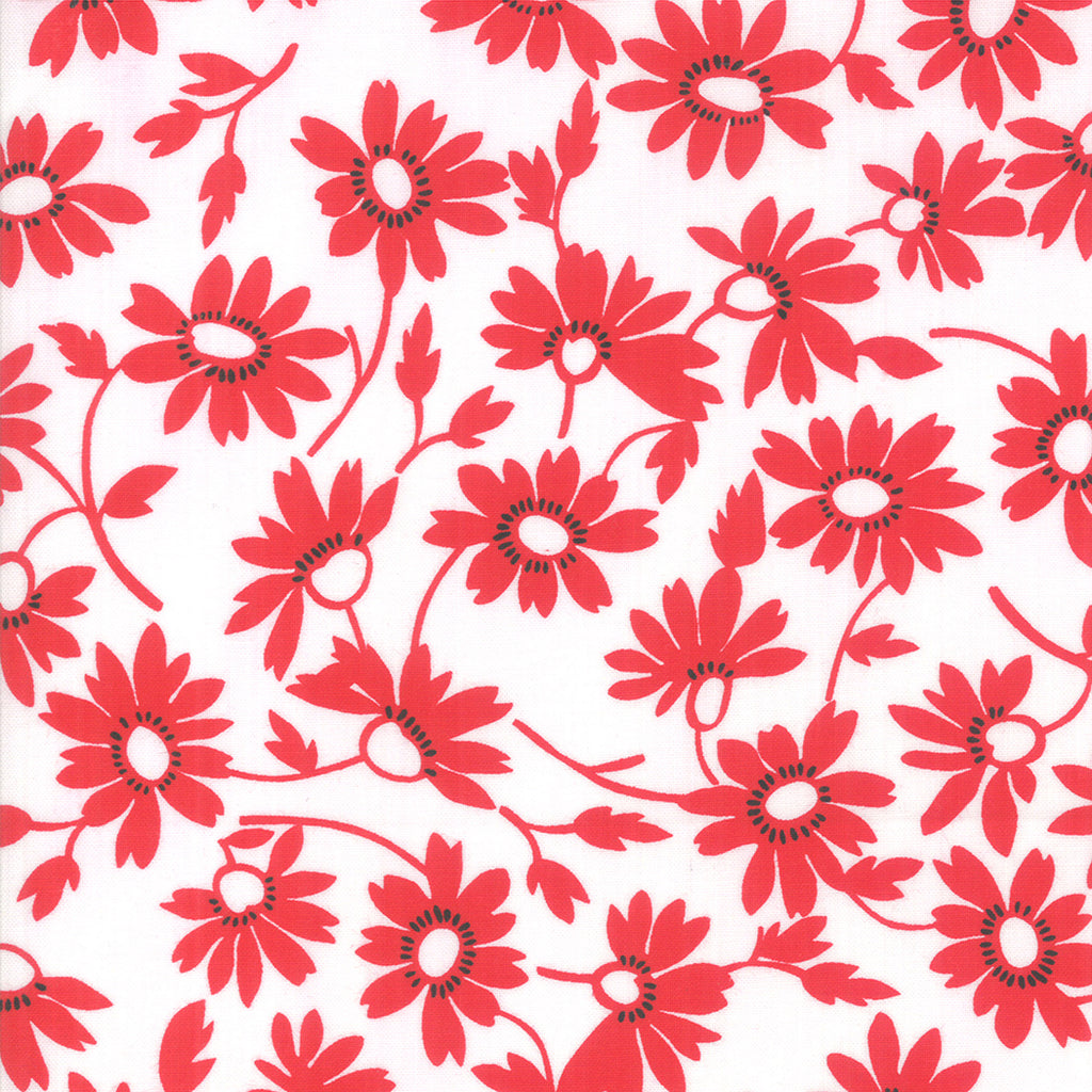 Back Porch Screen Door Blooming White Red SKU# 22392 13