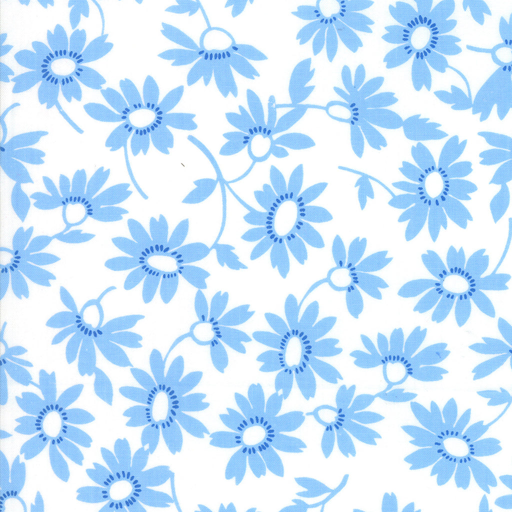 Back Porch Screen Door Blooming White Blue SKU# 22392 23