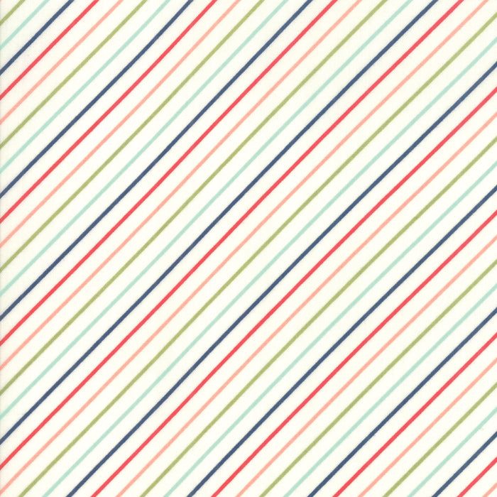 Early Bird Stripe (55196 17) by Bonnie & Camille from Moda - PRICE PER 1/2 YARD