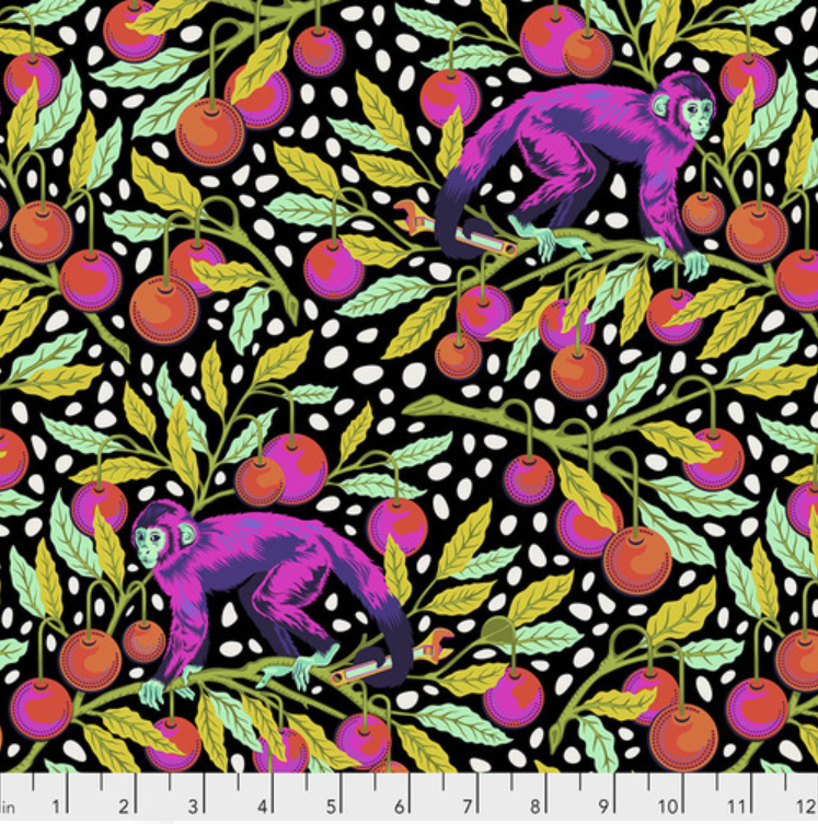 Monkey Wrench (PWTP134.GUAVA) by Tula Pink from Free Spirit - PRICE PER 1/2 YARD