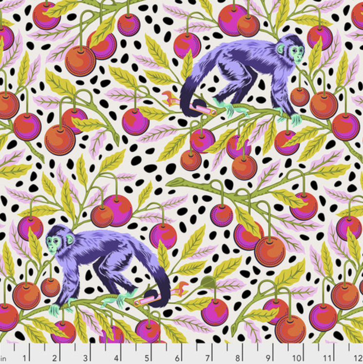 Monkey Wrench (PWTP134.MANGO) by Tula Pink from Free Spirit - PRICE PER 1/2 YARD