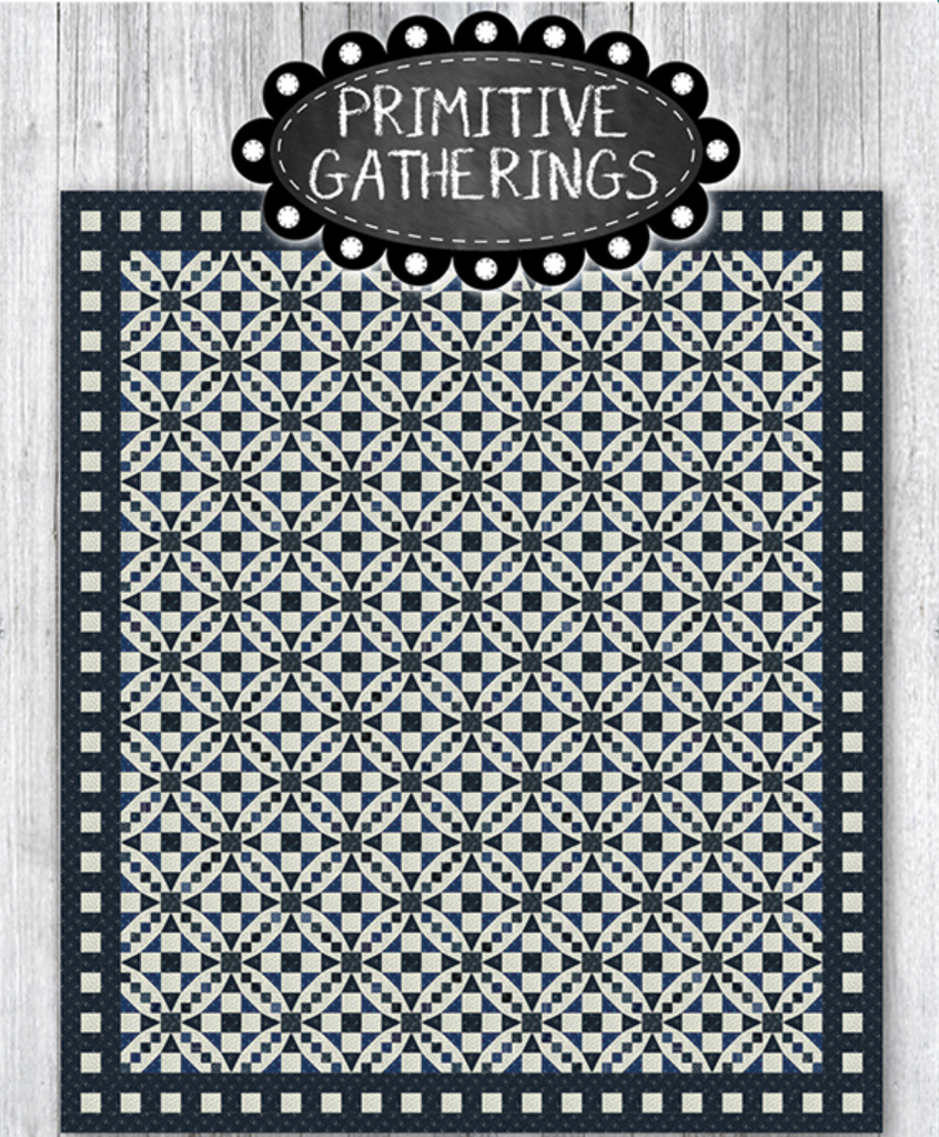 "Indigo Gatherings - ""Oshkosh on the Water"" Kit (PRI 707) by Primitive Gatherings from Moda"