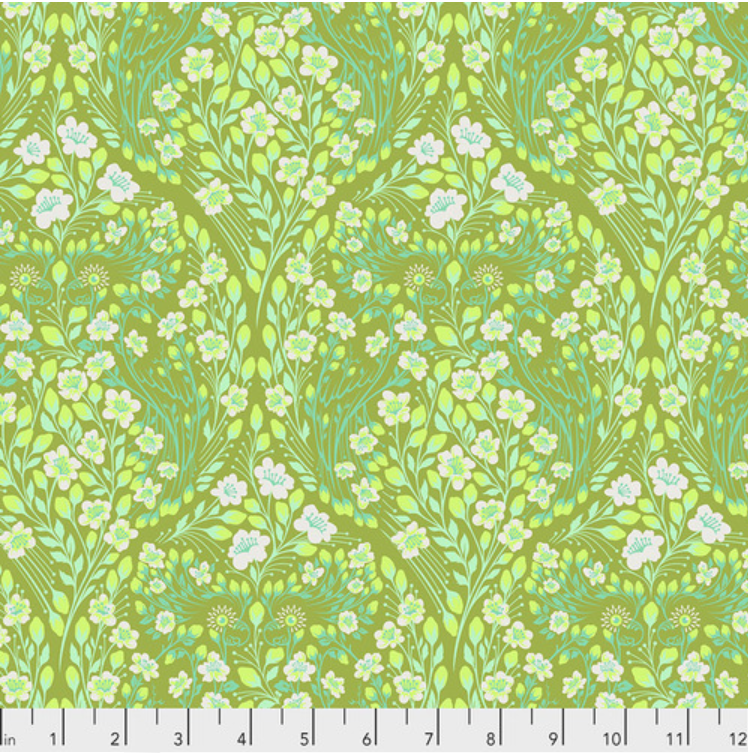 Parrot Prattle (PWTP135.GUAVA) by Tula Pink from Free Spirit - PRICE PER 1/2 YARD