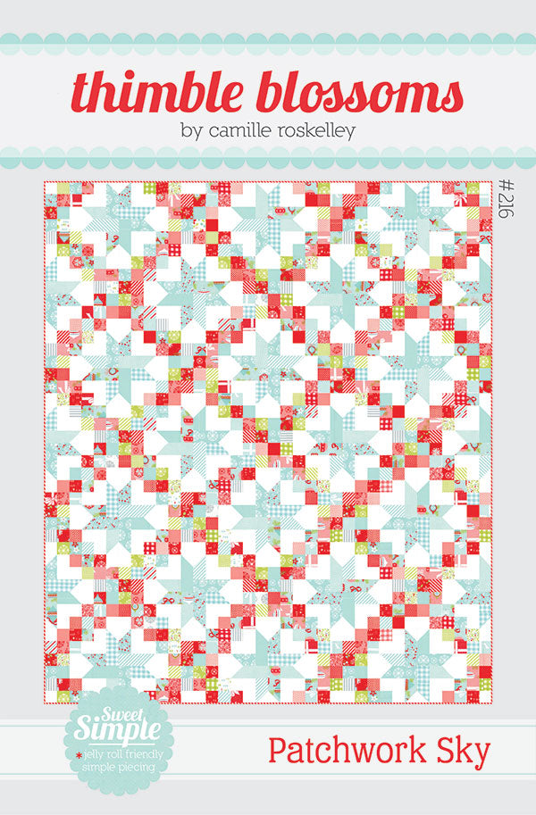 Patchwork Sky Pattern by Thimbleblossoms