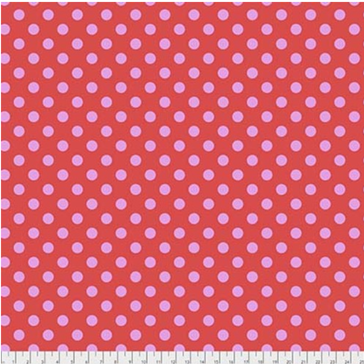 Pom Poms (PWTP118.POPPY) by Tula Pink from Free Spirit - PRICE PER 1/2 YARD
