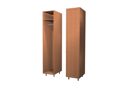 45 Cm. Sand Larch Wardrobe (White Interior ) with Shelf and Hanger Right