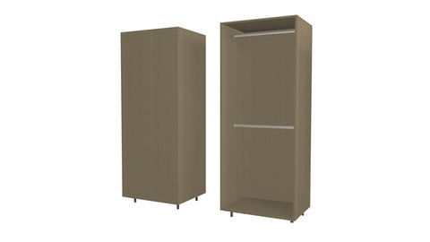 90 Cm. Champagne Avola Wardrobe (White Interior ) with 2 Hangers