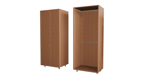 90 Cm. Alask ECO Wardrobe with 2 Hanger New
