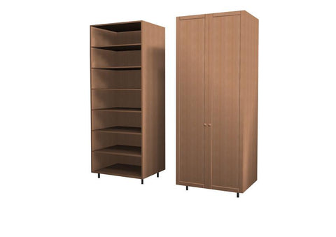 90 Cm. Korto ECO Wardrobe with Shelves New