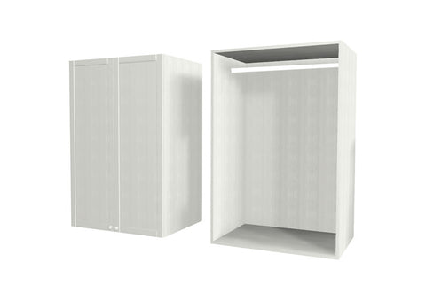 90 Cm. Hacienda White Wardrobe (White Interior ) Medium with Hanger
