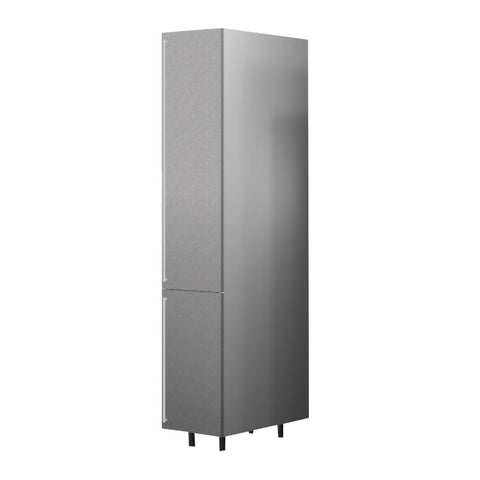 45 Cm. Grey Wave Tall Unit With Shelf Right
