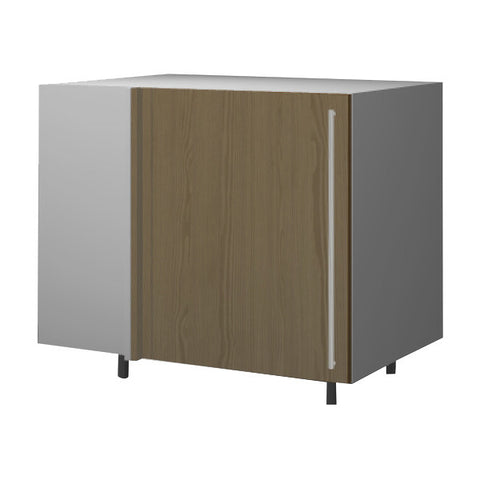 120 Cm. Champagne Avola Base Corner Unit With Shelf Left