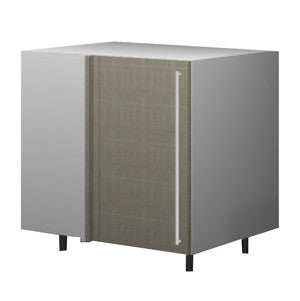 120 Cm. Grey Brown Avola Base Corner Unit With Shelf Left