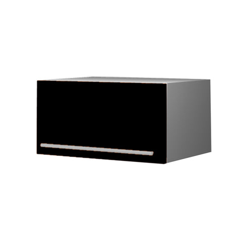 60 Cm. Black High Gloss Top Box Upper Unit