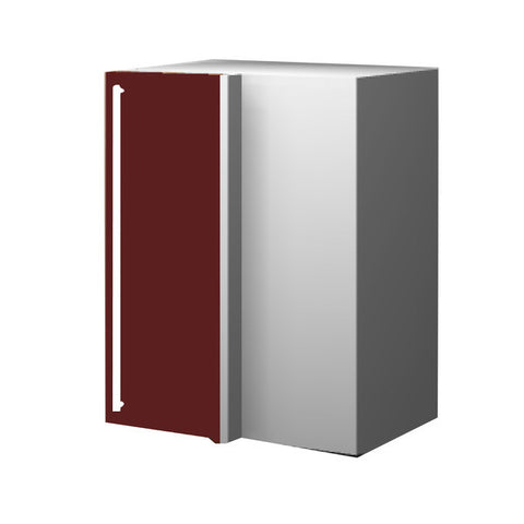 60 Cm. Burgundi High Gloss Upper Corner Unit With Shelf Right