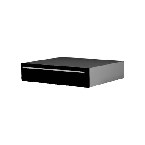 90 Cm. Black High Gloss Drawer Dresser Unit