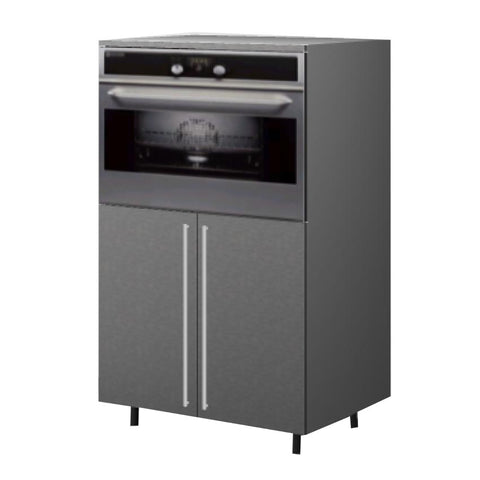 90 Cm. Grey Wave Medium Base Oven Unit with Shelf & 2 Doors