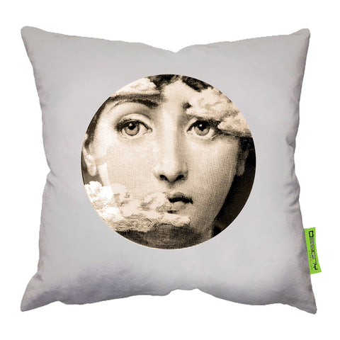 45*45 Cushion Light Beige Fornasetti1