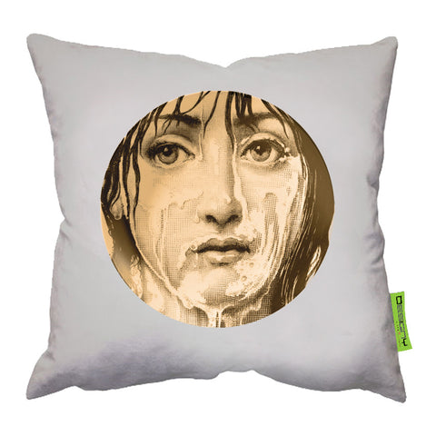 45*45 Cushion Light Beige Fornasetti9