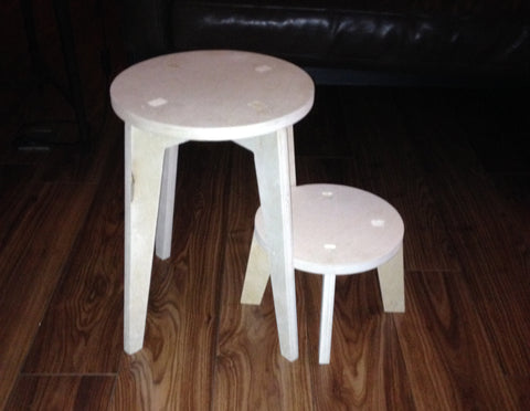 Chair - Fin Twin Stools 40cm 16 cm