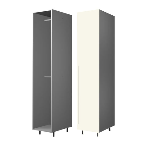 45 Cm. Cream High Gloss Wardrobe (White Interior ) with 2 Hanger Right