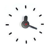 On-time wall clock Dark Red