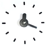 On-time wall clock Dark White