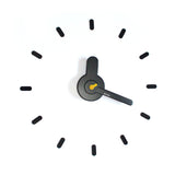 On-time wall clock Dark Yellow
