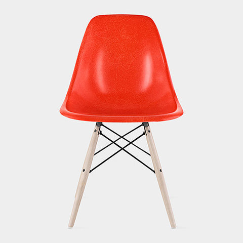 Chair - ABS  material and beech wood legs red