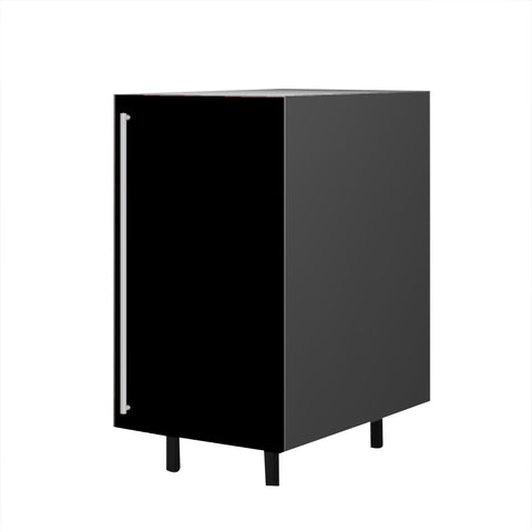 45 Cm. Black High Gloss Base Unit With Shelf  Right