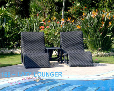 Out Door Lazy Lounger Dark Brown