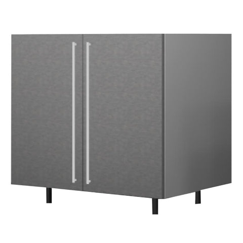 90 Cm. Grey Wave Base Unit With  Shelf & 2 Doors