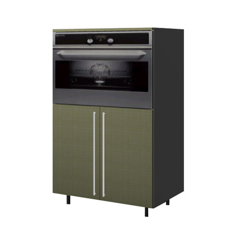 90 Cm. Greenish Medium Base Oven Unit with Shelf & 2 Doors