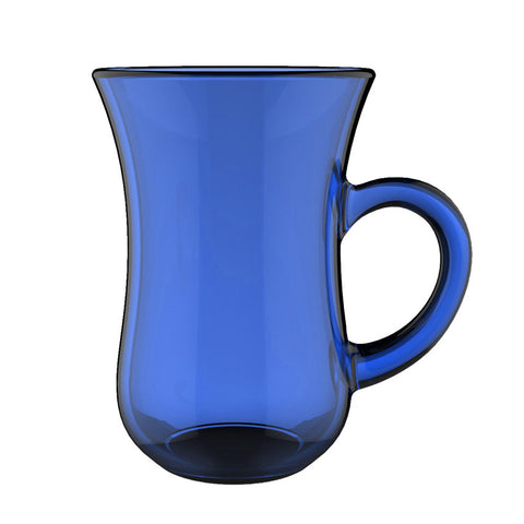 Aladin Full Painting CUP with small hand  H 8 T 5.6 CL 11  Blue