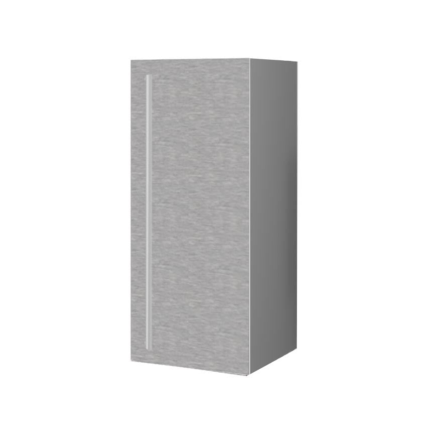 30 Cm. Grey Wave Upper Unit With Shelf Left