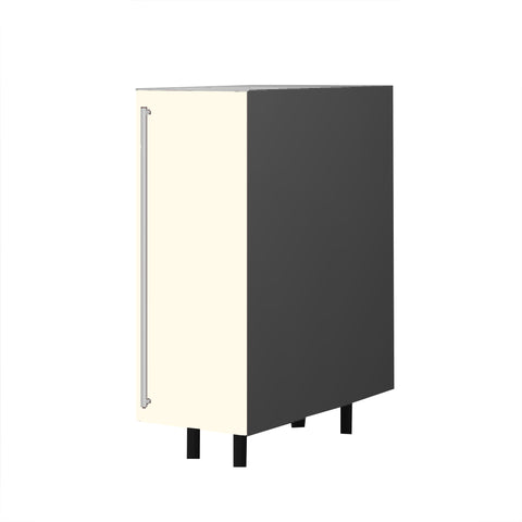 30 Cm. Cream High Gloss Base Unit With Shelf Right