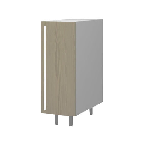 30 Cm. Champagne Avola Base Unit With Shelf Right