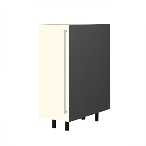 30 Cm. Cream High Gloss Base Unit With Shelf Left