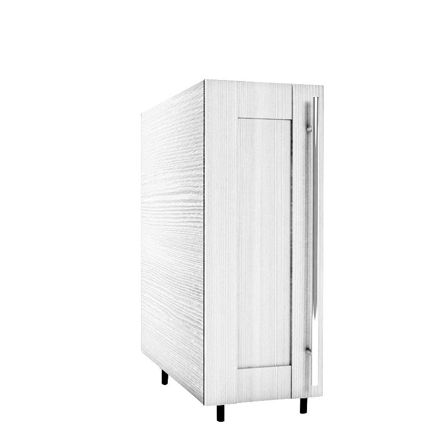 30 Cm. Hacienda White Cadr base unit with shelf left